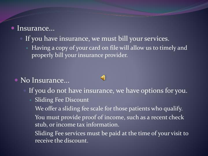 Insurance...