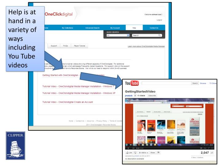 Help is at hand in a variety of ways including You Tube videos