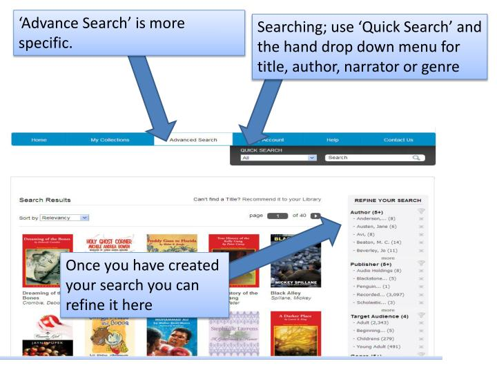 'Advance Search' is more specific.