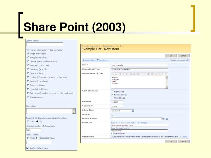 Share Point (2003)