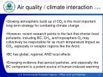 air quality climate interaction 1 of 3