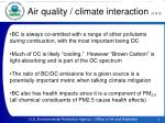 air quality climate interaction 3 of 3