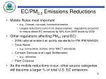 ec pm 2 5 emissions reductions