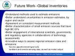 future work global inventories