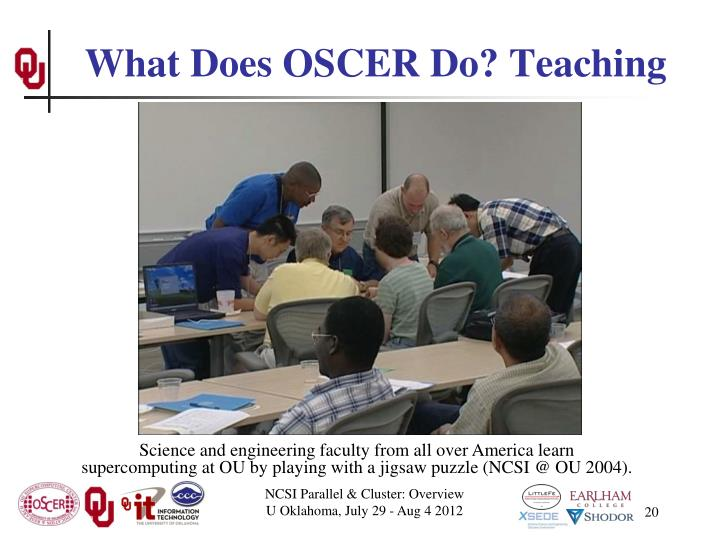 What Does OSCER Do? Teaching