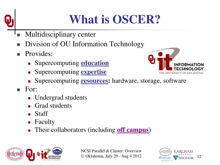 What is OSCER?