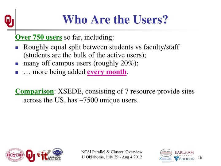 Who Are the Users?