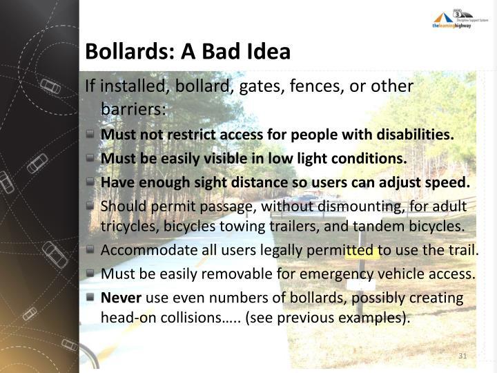 Bollards: A Bad Idea