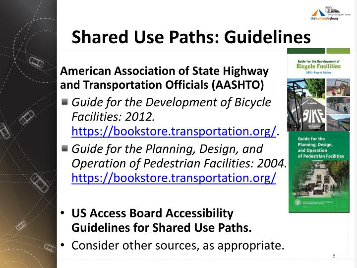 Shared Use Paths: Guidelines