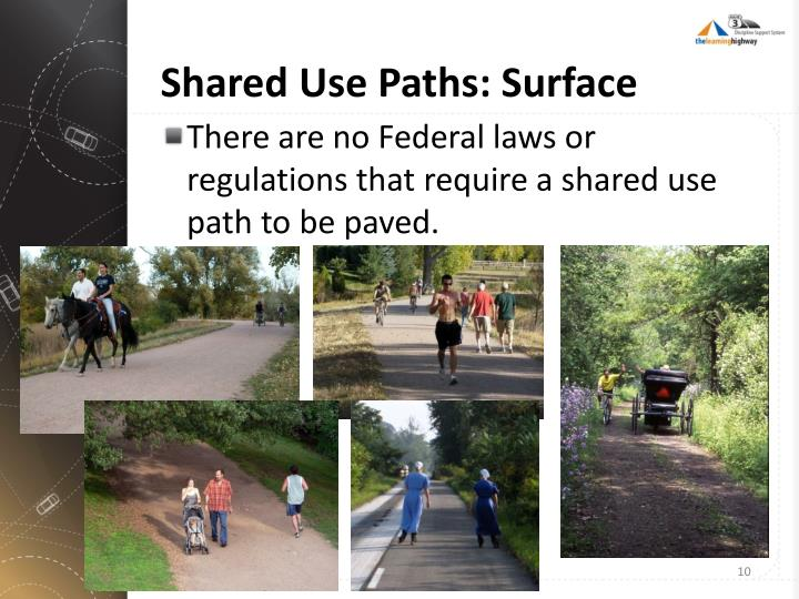 Shared Use Paths: Surface
