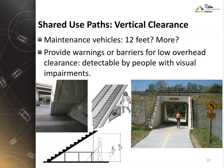 Shared Use Paths: Vertical Clearance