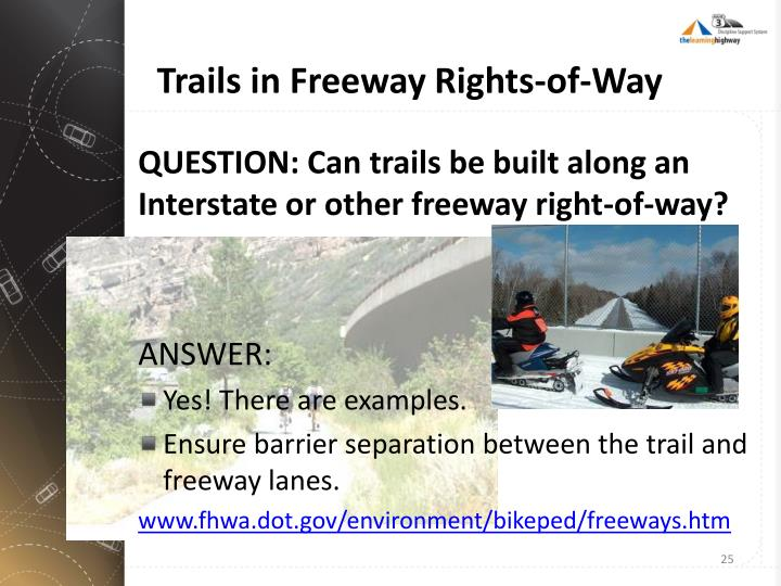 Trails in Freeway Rights-of-Way