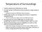 temperature of surroundings