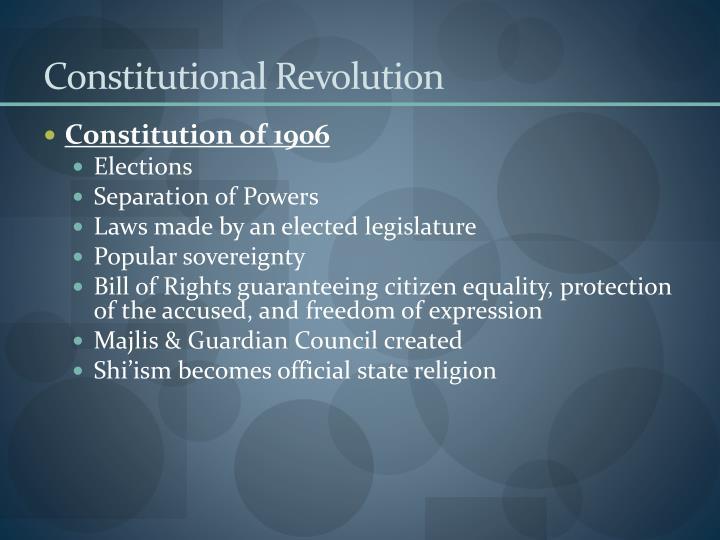 Constitutional Revolution