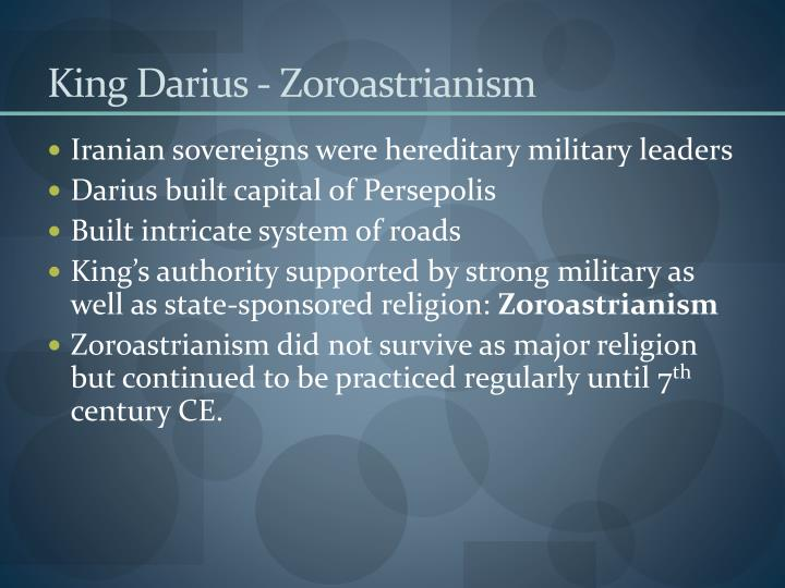 King darius zoroastrianism