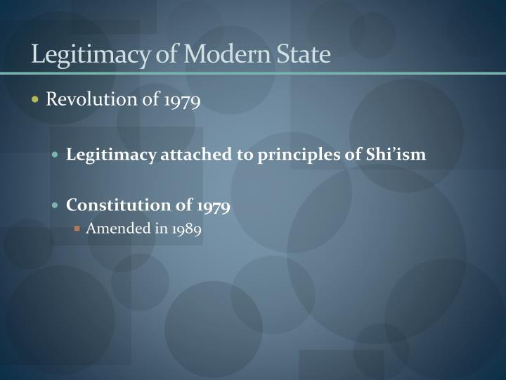 Legitimacy of Modern State
