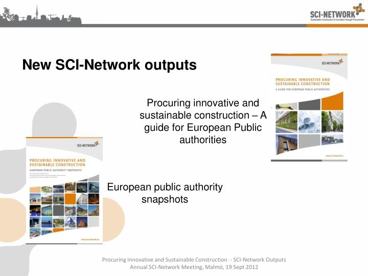 New sci network outputs