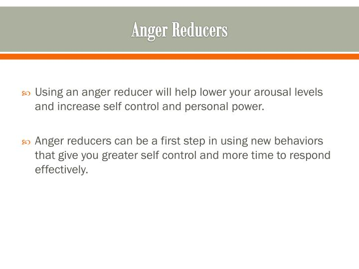 Anger Reducers