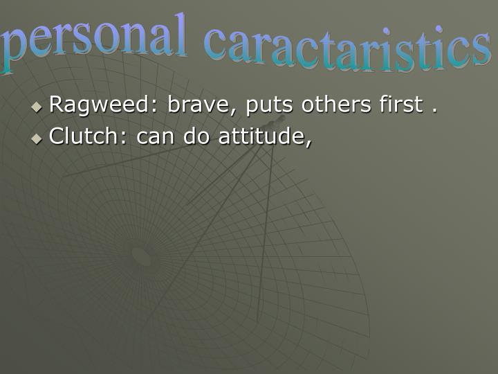 Personal caractaristics