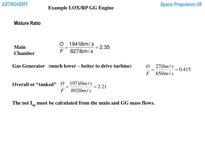 Example LOX/RP GG Engine