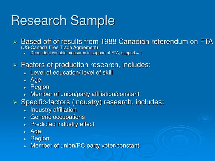 Research Sample
