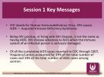 session 1 key messages