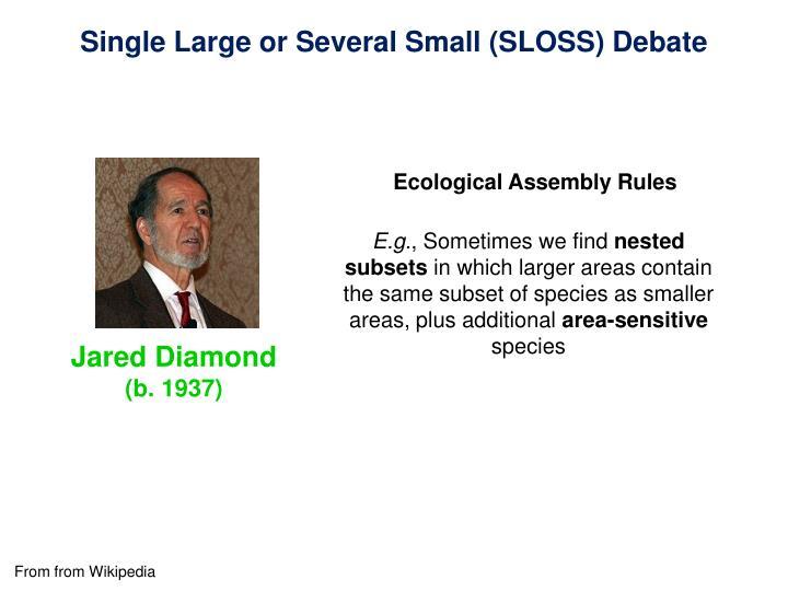 Single Large or Several Small (SLOSS) Debate