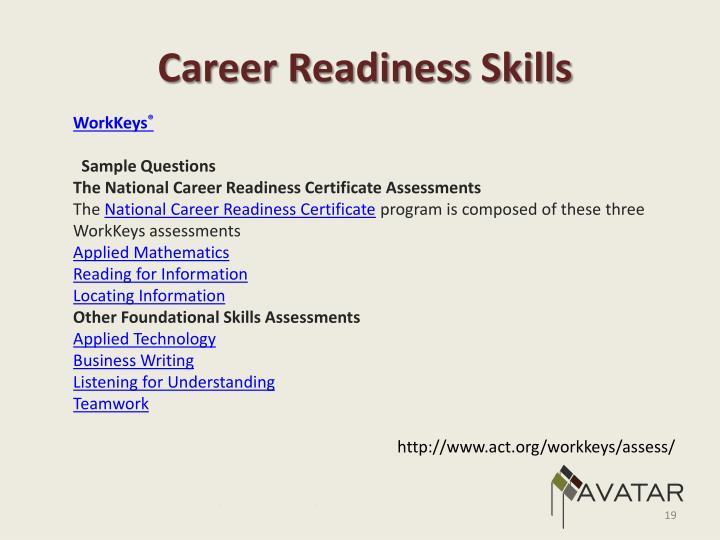Career Readiness Skills
