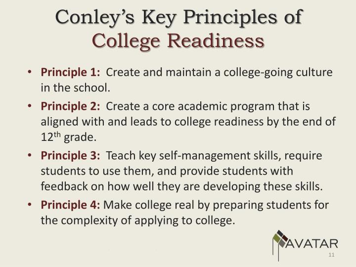 Conley's Key Principles of