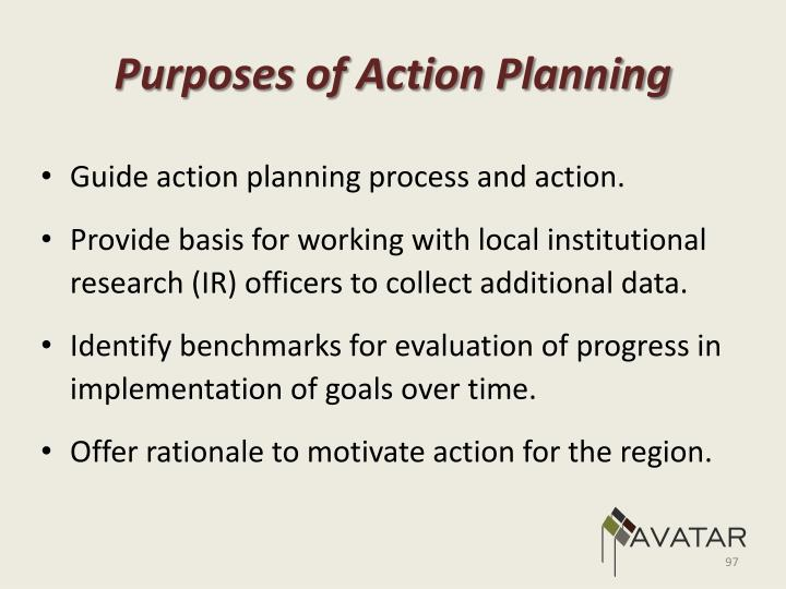 Purposes of Action Planning