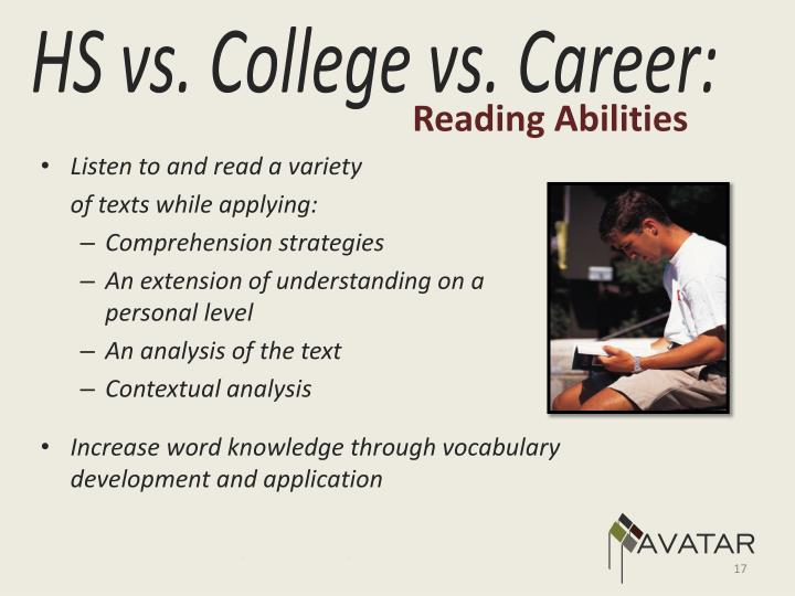 Reading Abilities