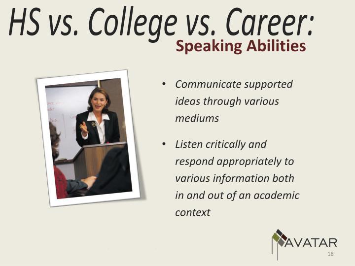 Speaking Abilities