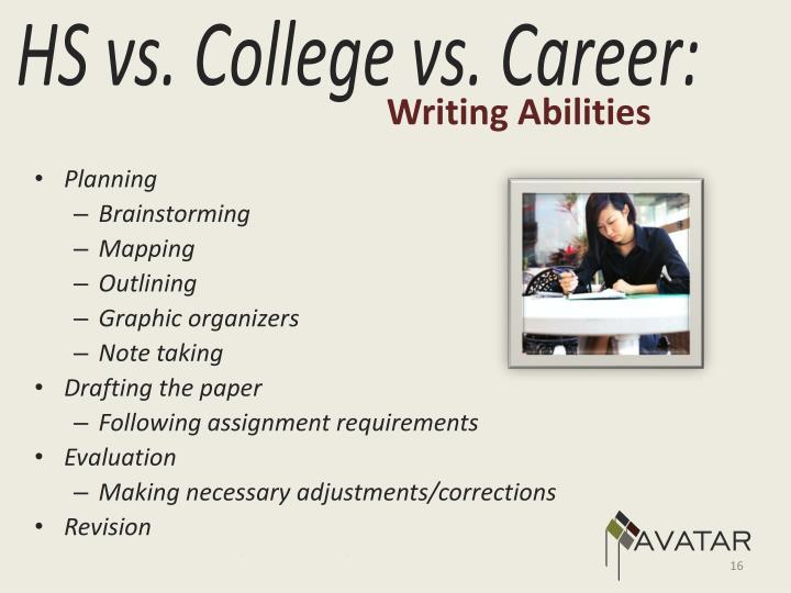 Writing Abilities