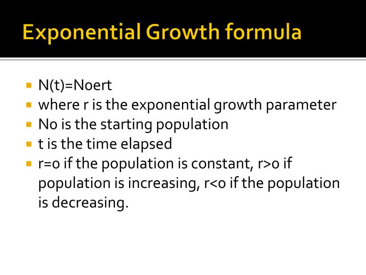 Exponential Growth formula
