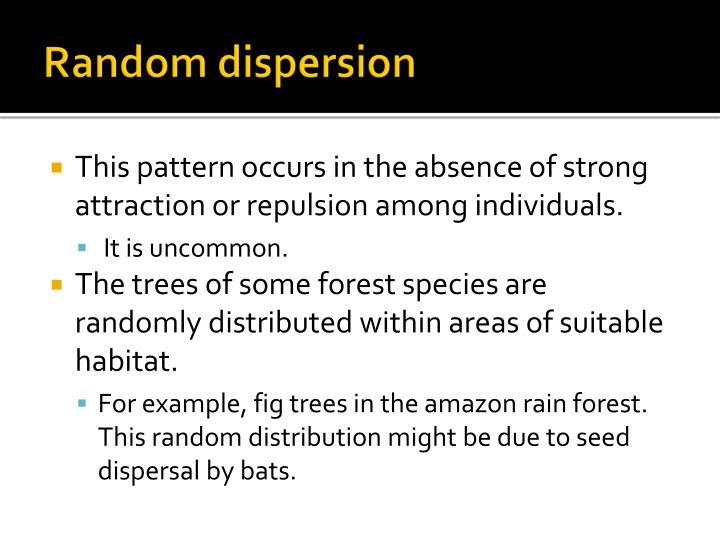 Random dispersion