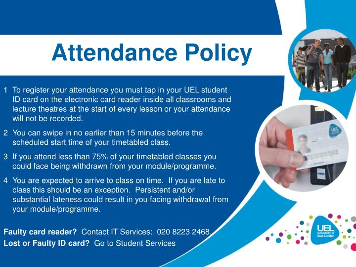 attendance policy n.