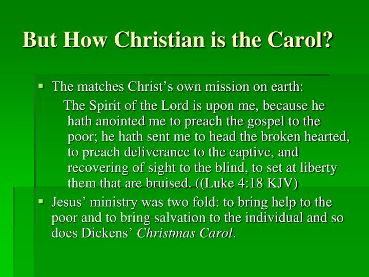 But How Christian is the Carol?