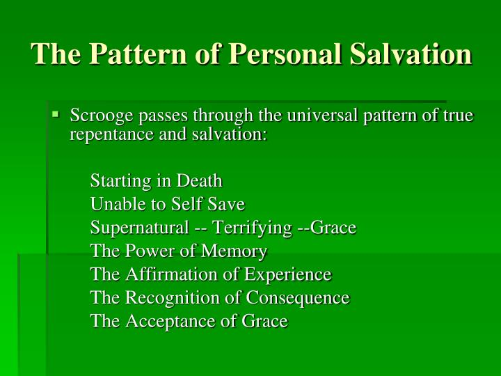 The Pattern of Personal Salvation