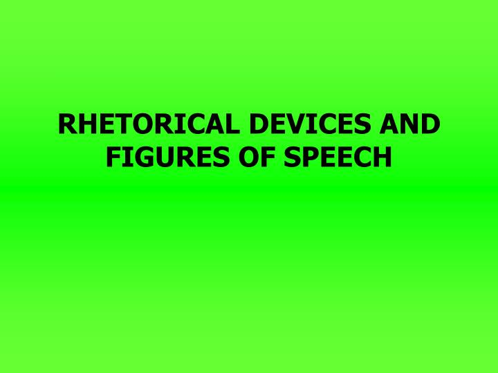 rhetorical devices and figures of speech n.
