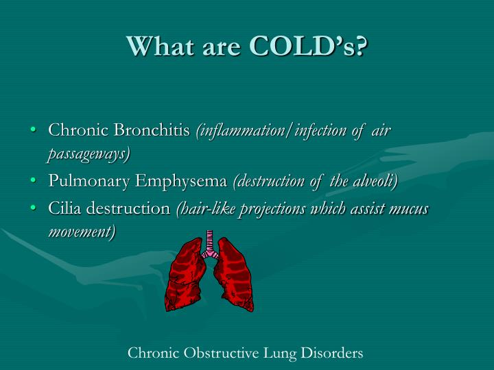 What are COLD's?