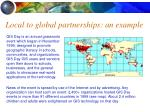 local to global partnerships an example