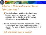 what is a national spatial data infrastructure