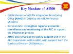 key mandate of aimo