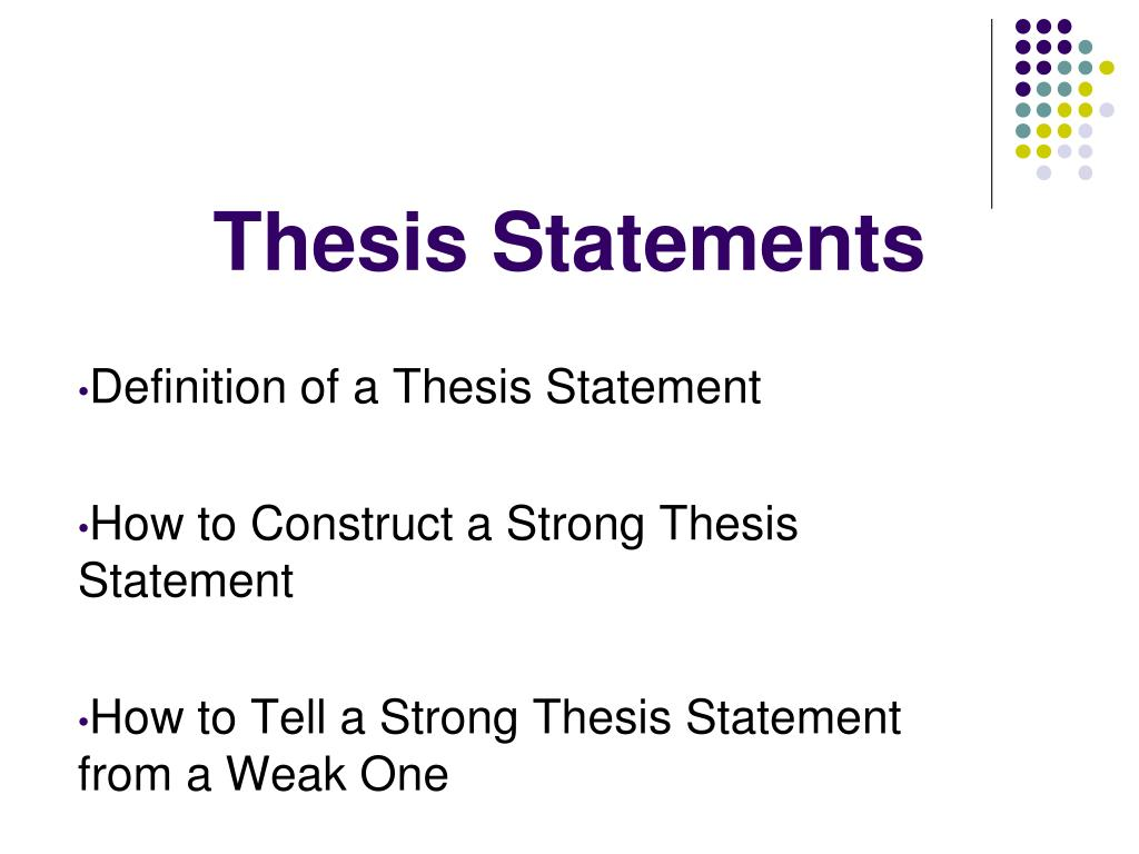 a strong thesis statement