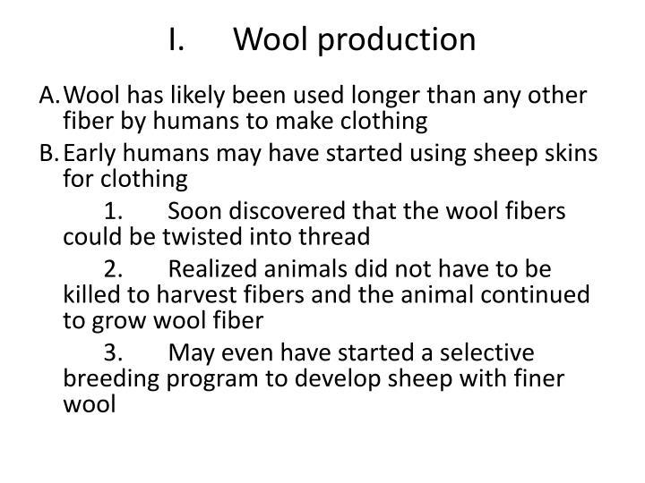 I wool production