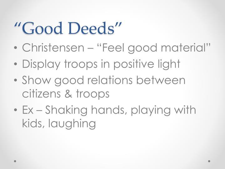 """""""Good Deeds"""""""