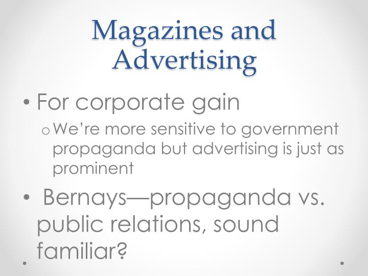 Magazines and Advertising