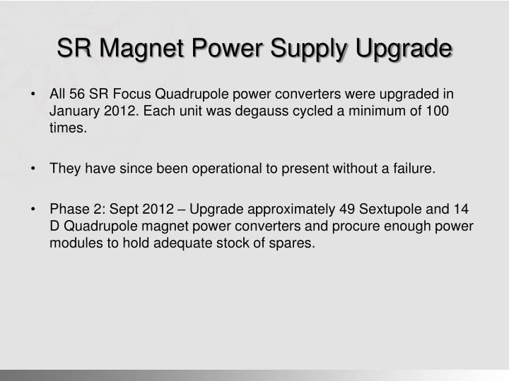 SR Magnet Power Supply Upgrade