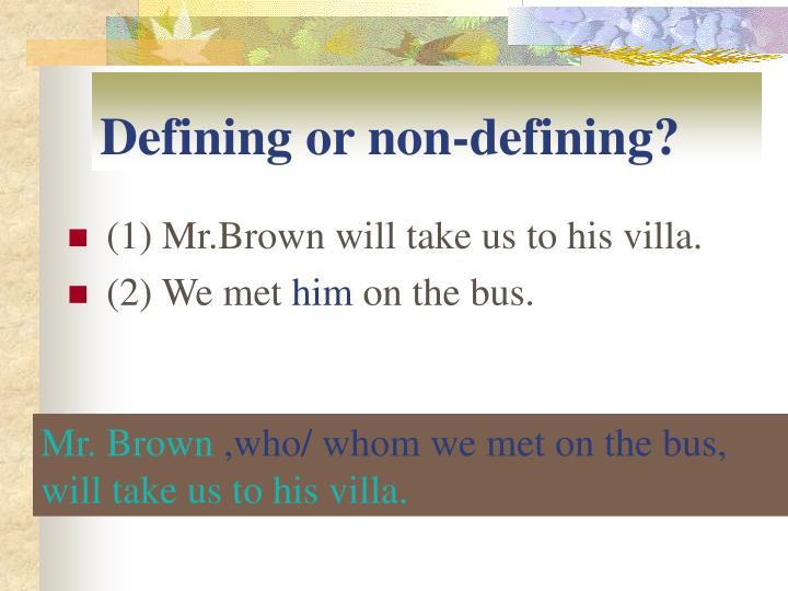 Defining or non-defining?