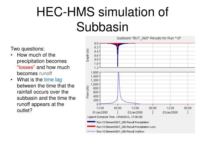 HEC-HMS simulation of